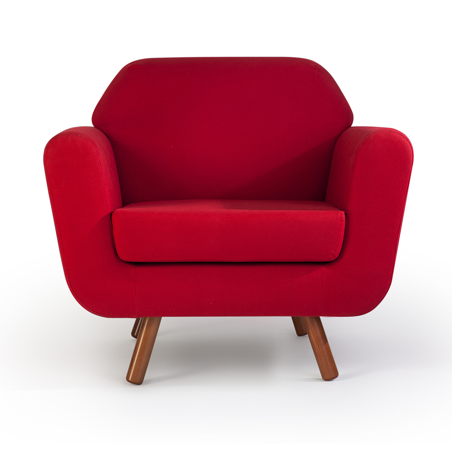 A photo of a red chair - Redwood Business Insurance Services.