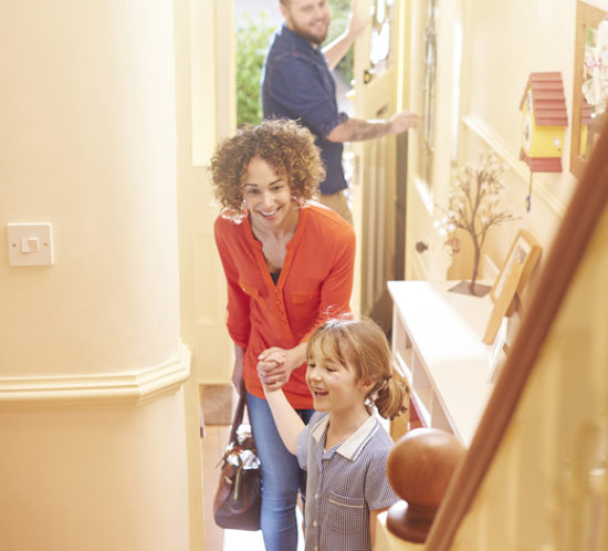 A family returning home - Redwood Business Insurance Services.